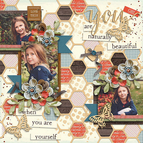 Layout Sample of Natural Beauty | Collection
