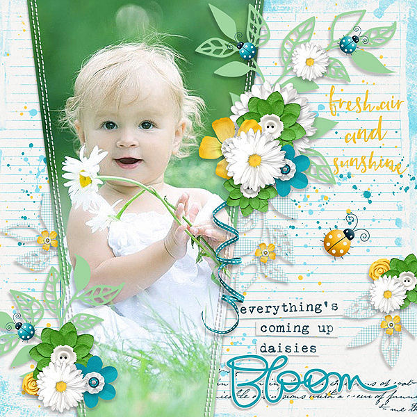 Layout Sample of Summer Leaves 01 | Templates