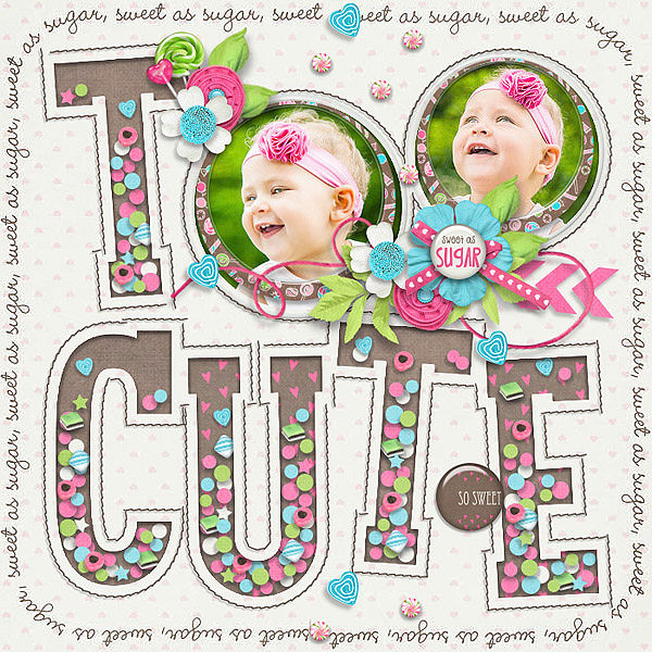 Layout Sample of Playing With Confetti #04 | Templates