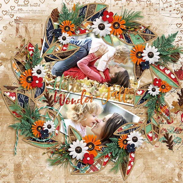 Layout Sample of Autumn Leaves 02 | Templates