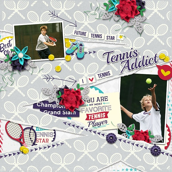 Layout Sample of Tennis Addict | Collection