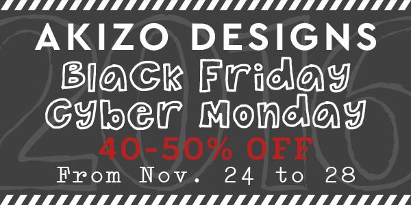 Black Friday Cyber Monday Sale at Akizo Designs Shop