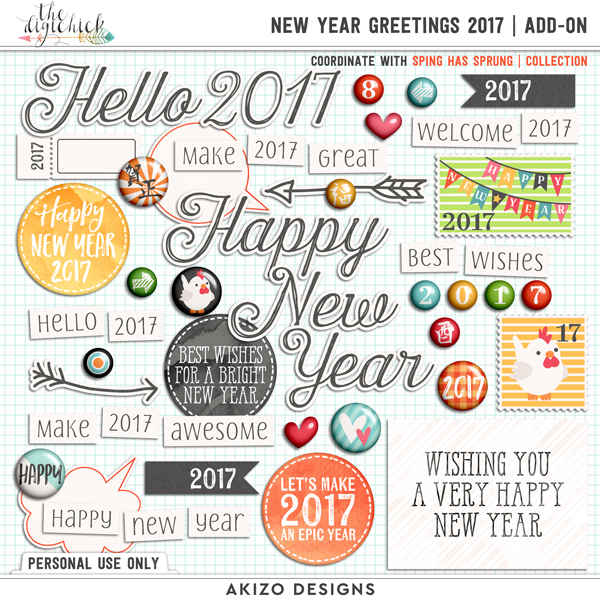 New Year Greetings 2017 Add-on