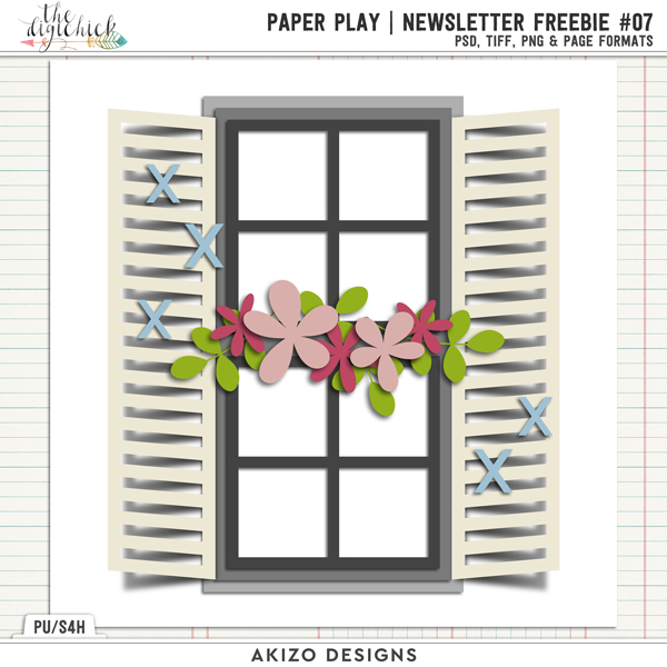 PaperPlay NewsLetter Freebie 07 by Akizo Designs