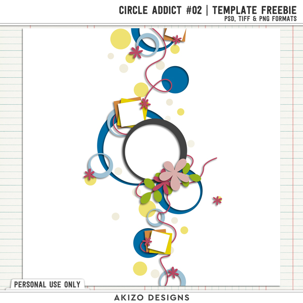 Template -Circle Addict 2 by Akizo Designs