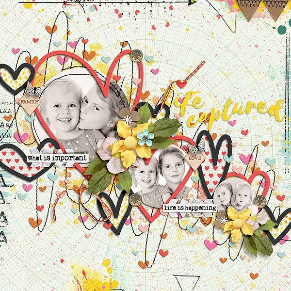 Layout Sample of From The Heart 05 | Templates