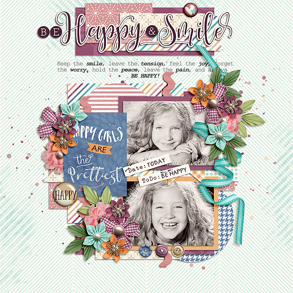 Layout Sample of Be Happy And Smile | Collection