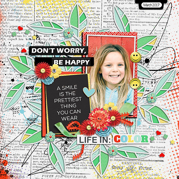Layout Sample of Spring Leaves 02 | Templates