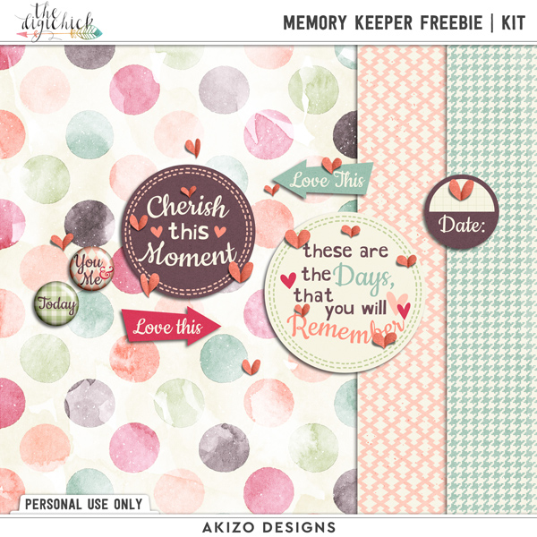 Memory Keeper Freebie | Kit by Akizo Designs