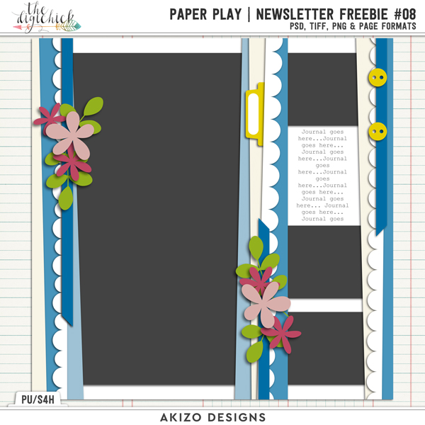 Paper Play Newsletter Freebie 08 Template by Akizo Designs