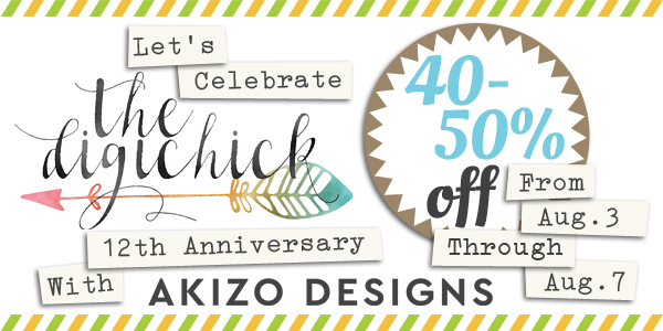 12th Anniversary Sale | Akizo Designs | Digital Scrapbooking