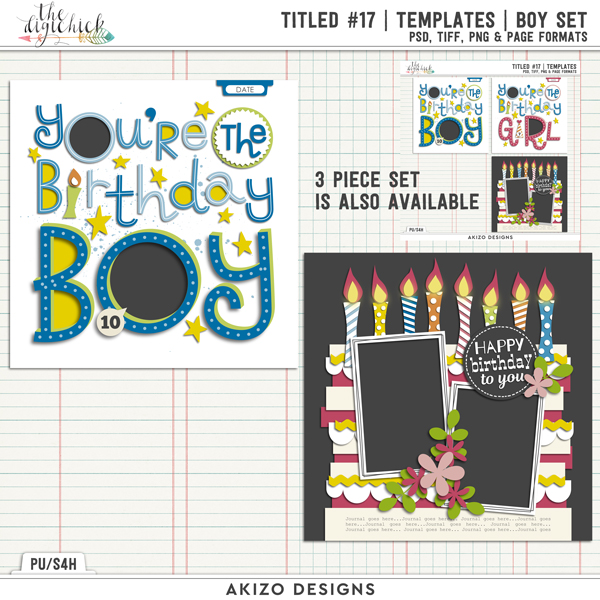 Titled 17 | Templates | Boy Set by Akizo Designs