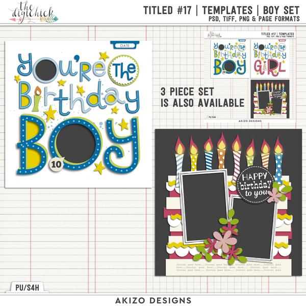 Titled 17 | Templates | Boy Set by Akizo Designs