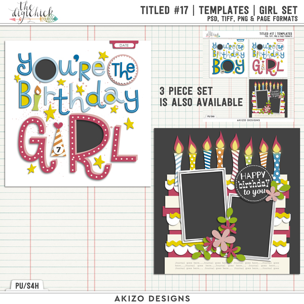 Titled 17 | Templates | Girl Set by Akizo Designs