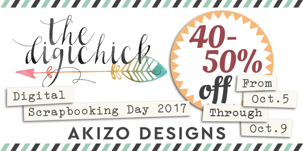 DSD 2017 Sale | Akizo Designs | Digital Scrapbooking