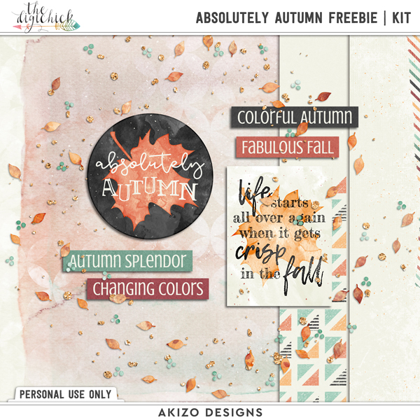 Absolutely Autumn Freebie | Kit by Akizo Designs