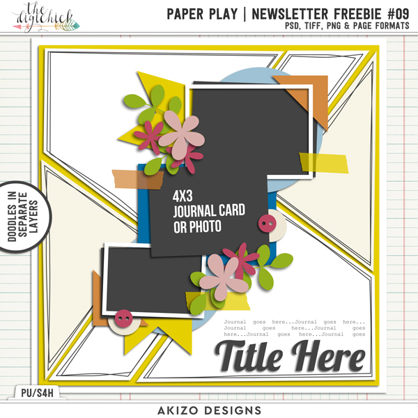 Paper Play NewsLetter Freebie 09 by Akizo Designs