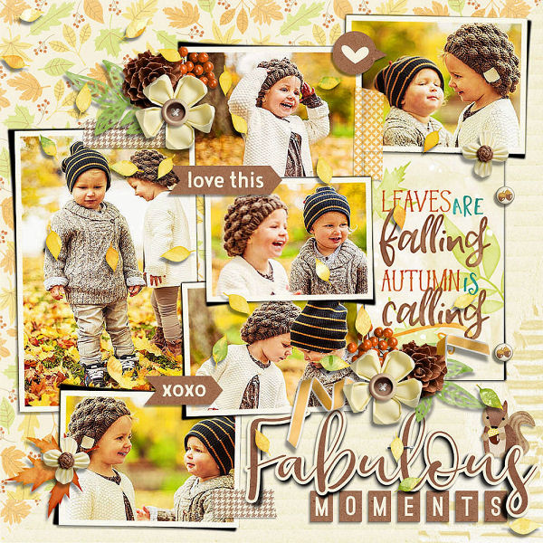 Layout Sample of Falling Into Autumn   Collection