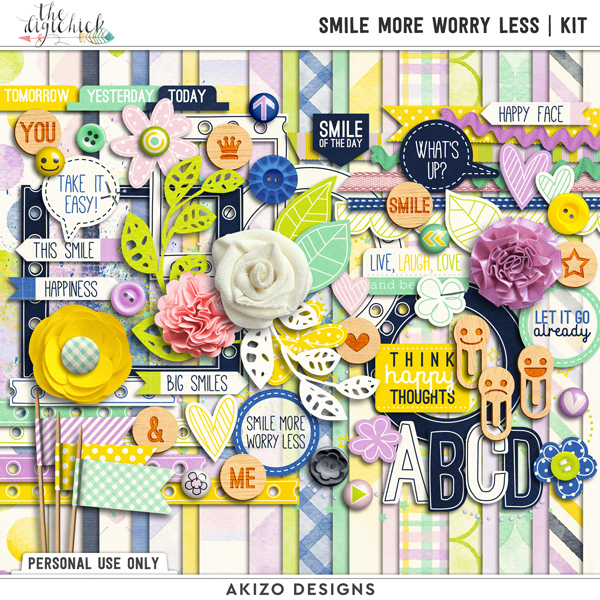 Smile More Worry Less | Kit by Akizo Designs