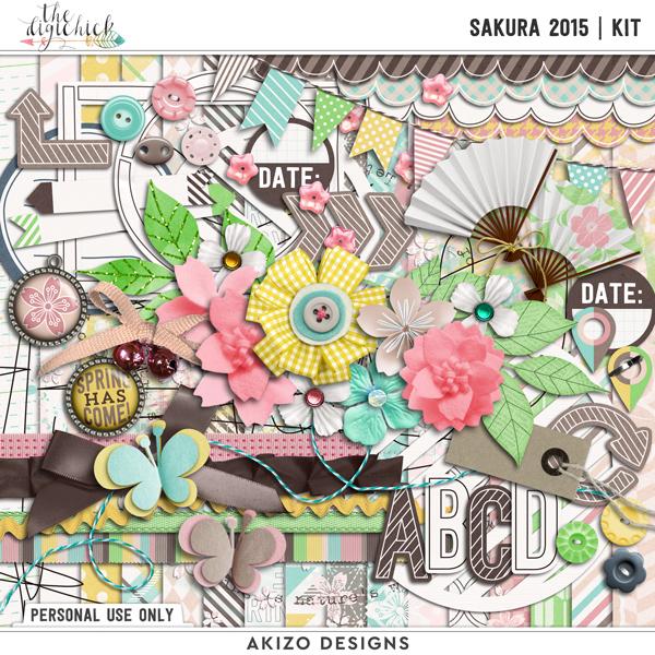 Sakura 2015 | kit by Akizo Designs | Digital Scrapbooking