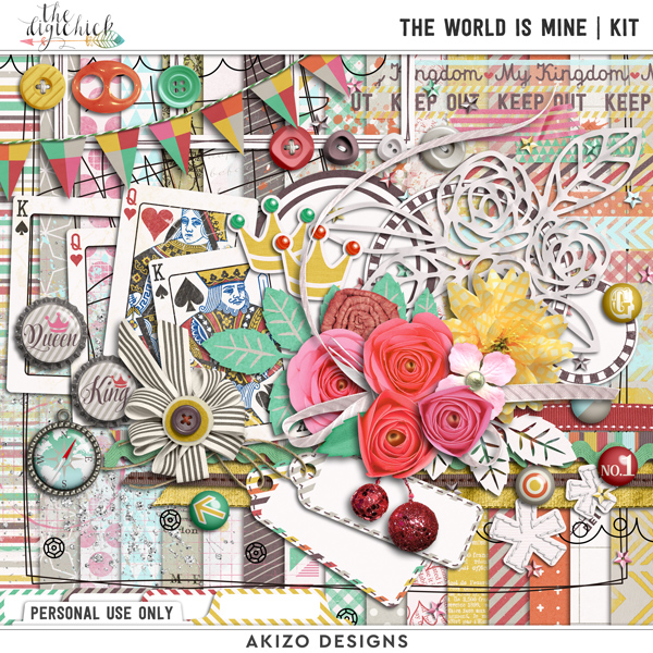 The World Is Mine by Akizo Designs | Digital Scrapbooking kit