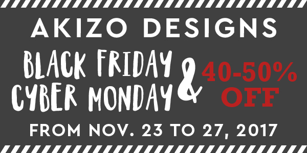 Black Friday Cyber Monday Sale at Akizo Designs Shop