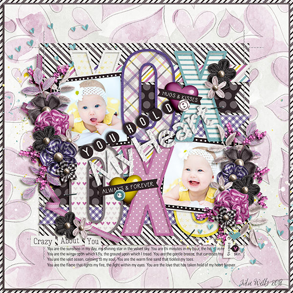 Layout Sample made by Julie using Always And Forever   Collection