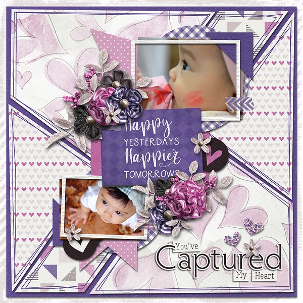 Layout Sample made by Tsubasa using Always And Forever   Collection
