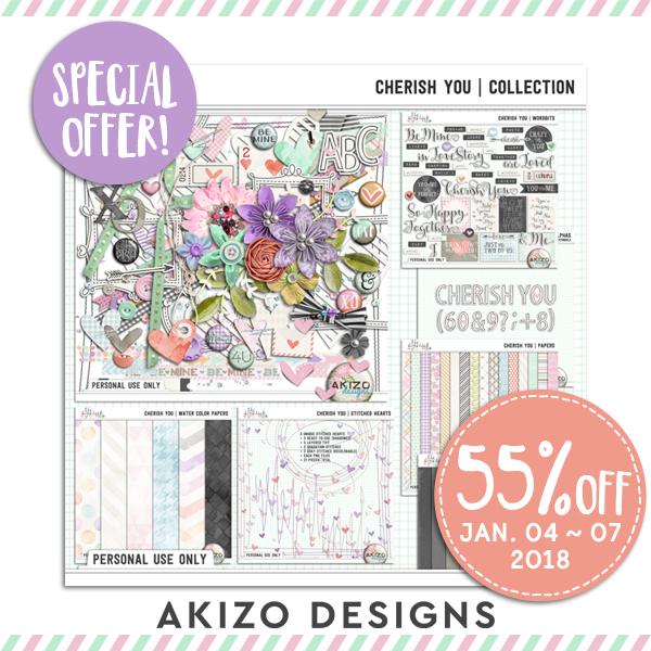 Cherish You   Collection by Akizo Designs   Digital Scrapbooking Kit