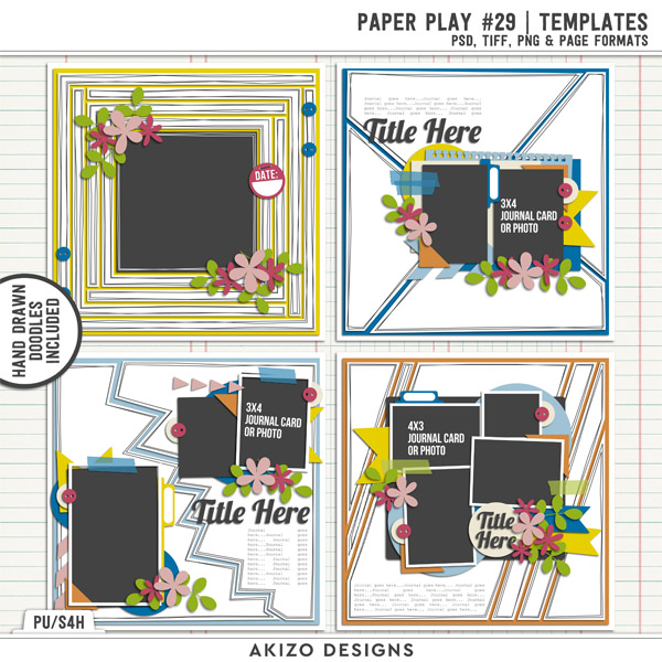 Paper Play 29 | Templates by Akizo Designs