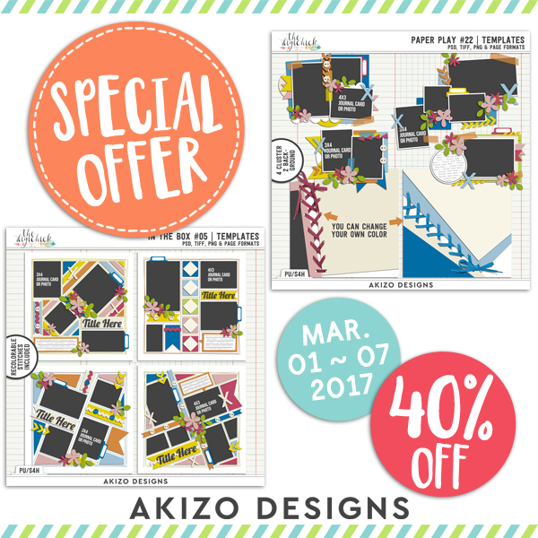 Special Offer Templates are 40% off