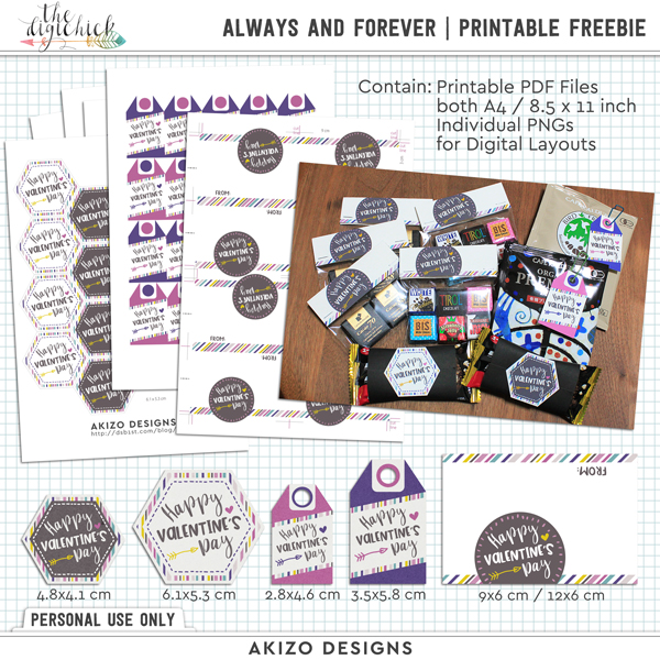Always And Forever | Printable Freebie by Akizo Designs | Hybrid Digital Scrapbooking