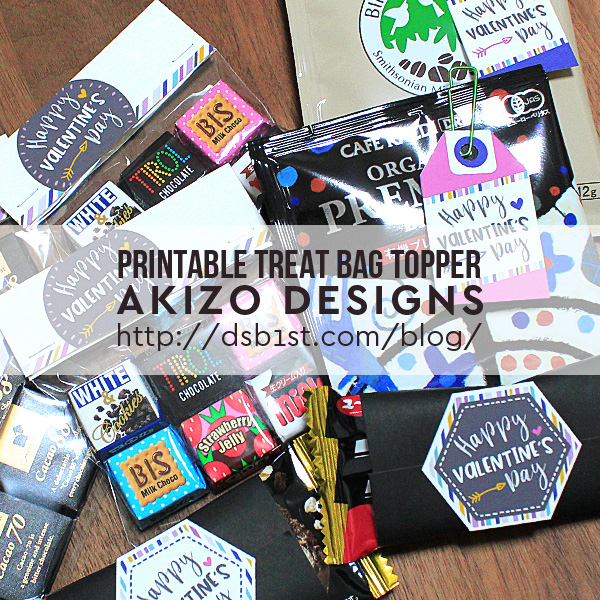 Printable Treat Bag Topper by Akizo Designs