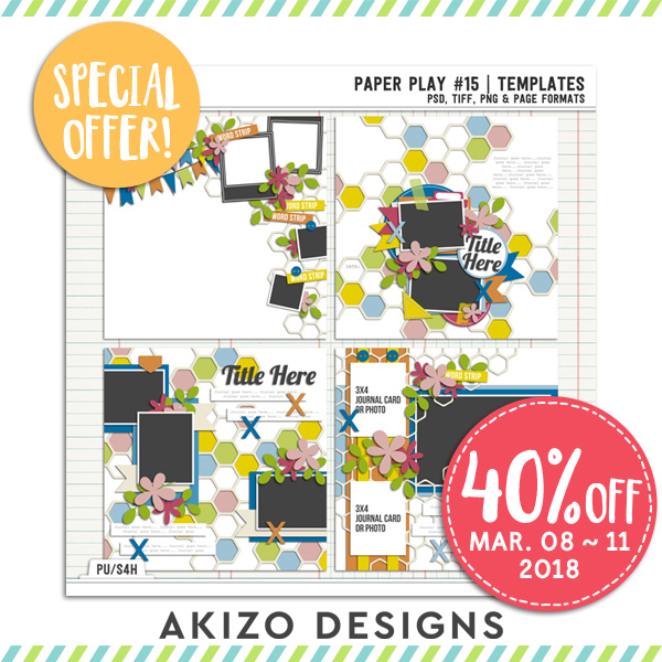 Paper Play 15 | Templates by Akizo Designs