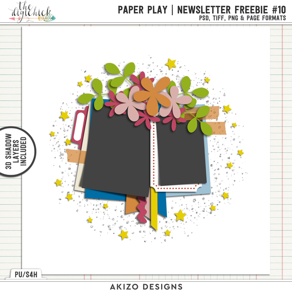 Paper Play Newsletter Freebie 10 Template by Akizo Designs
