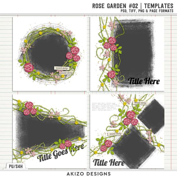 Rose Garden 02 | Templates by Akizo Designs