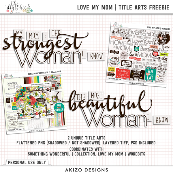 Freebie – Love My Mom Title Arts – Limited Time