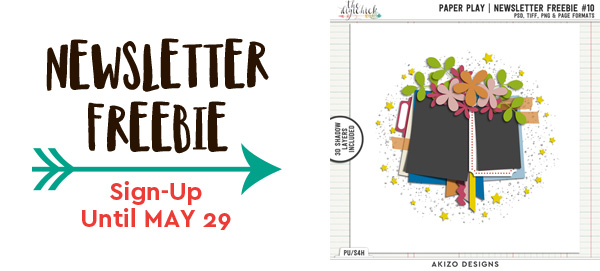 Paper Play Newsletter Freebie 10 by Akizo Designs