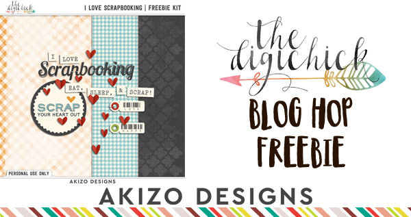Blog Hop Freebie by Akizo Designs | Digital Scrapbooking