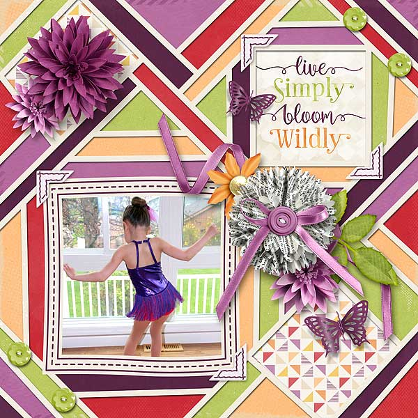 Layout Sample of Crazy Squares 08 | Templates
