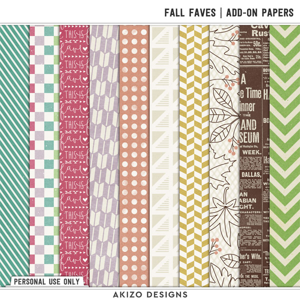 Fall Faves | Add-on Papers by Akizo Designs
