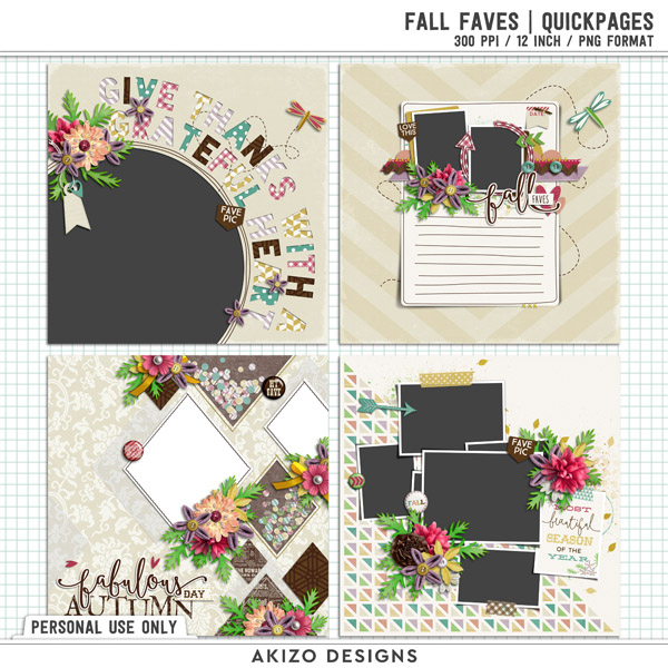 Fall Faves | Quickpages by Akizo Designs