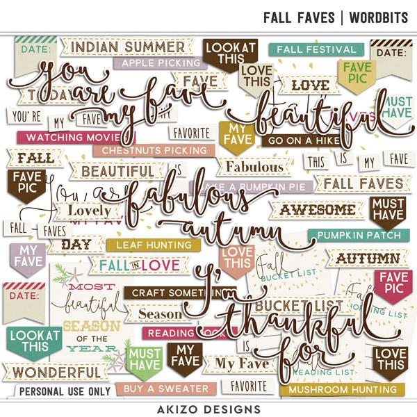 Fall Faves | Wordbits by Akizo Designs