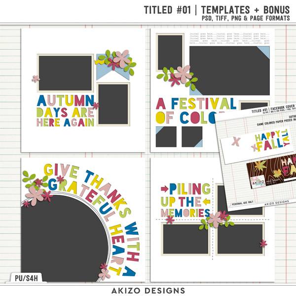 Titled 01 | Templates + Bonus by Akizo Designs