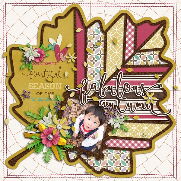Layout Sample of Autumn Leaves 03 | Templates