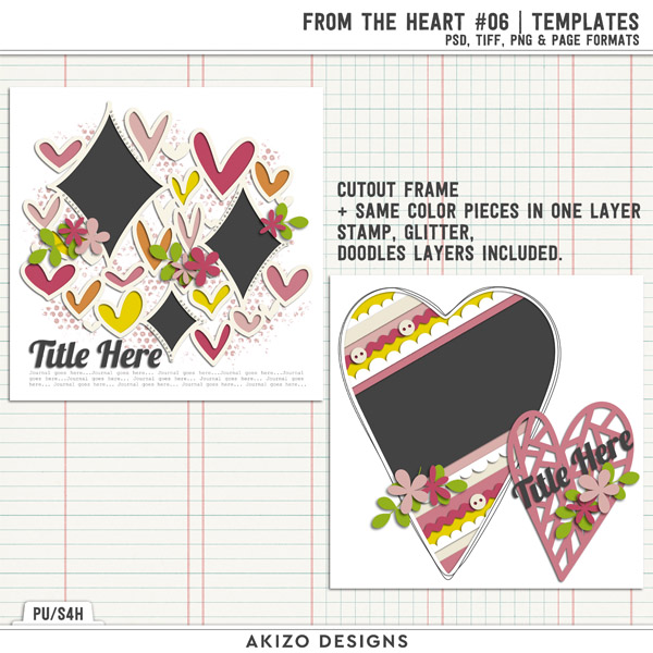 From The Heart 06 | Templates by Akizo Designs