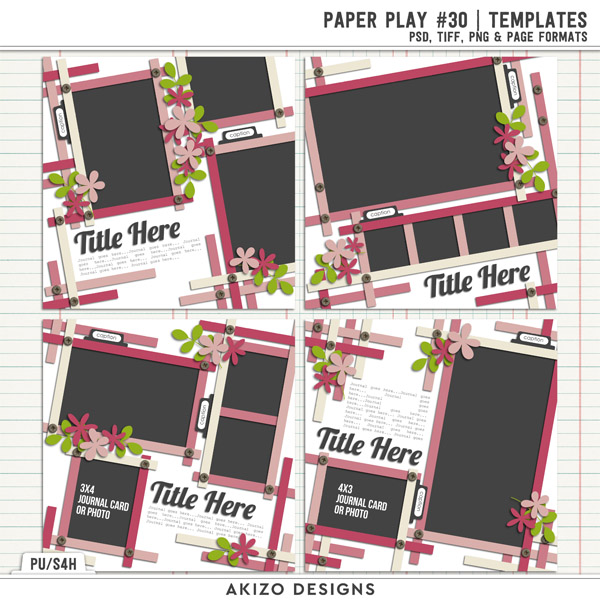 Paper Play 30 | Templates by Akizo Designs