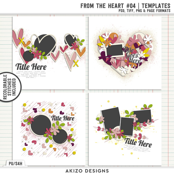 From The Heart 04 | Templates by Akizo Designs