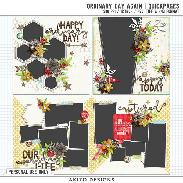 Ordinary Day Again | Quickpages by Akizo Designs