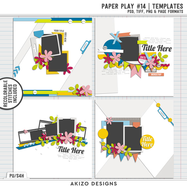Paper Play 14 | Templates by Akizo Designs
